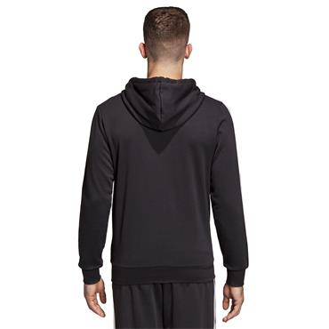 Adidas Mens 3 Stripe Full Zip Jacket - Black/White
