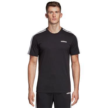 Adidas Mens Essentials 3 Stripe T-Shirt - Black/White
