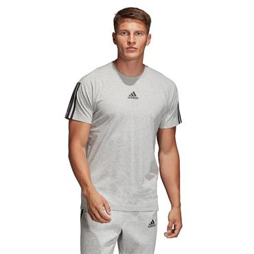Adidas Mens Must Have 3 Stripes T-Shirt - Grey