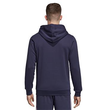Adidas Mens 3 Stripe Full Zip Hoodie - Navy/White