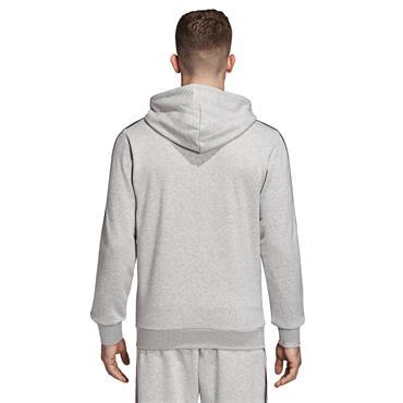 Adidas Mens Essentials Full Zip Hoodie - Grey/Black