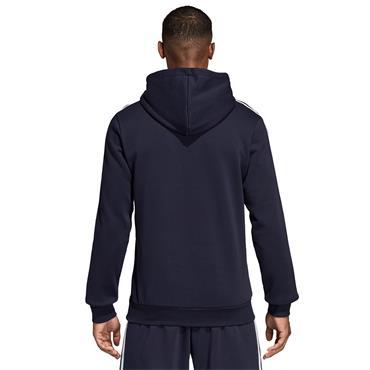 Adidas Mens Essnetials 3 Stripe Sweatshirt - Navy/White