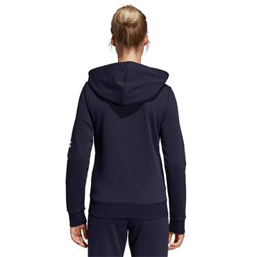 Adidas Womens Linear Full Zip Essentials Hoodie - Navy