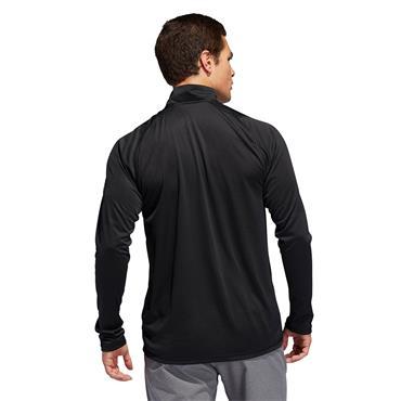 Adidas Mens 1/4 Zip Training Sweatshirt - BLACK