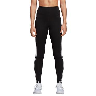 ADIDAS WOMENS 3 STRIPE LEGGINGS - BLACK/WHITE