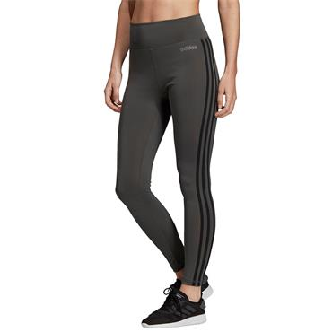 Adidas Womens 3 Stripe Hight Rise Leggings - Green/Black