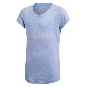 Adidas Girls ID Winner T-Shirt - Blue/Pink