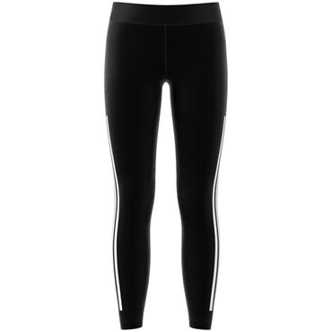 Adidas Girls 3 Stripe Leggings - Black/White