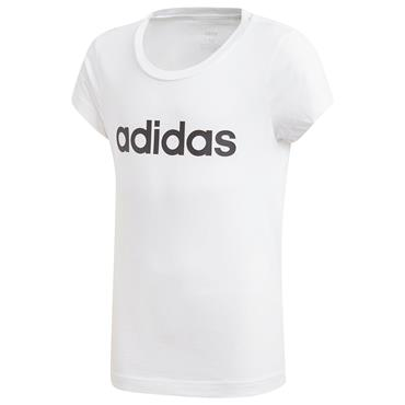 ADIDAS KIDS LINEAR TSHIRT - WHITE/BLACK