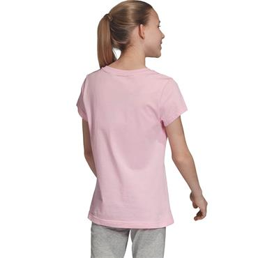 Adidas Girls Essentials Linear T-Shirt - Pink