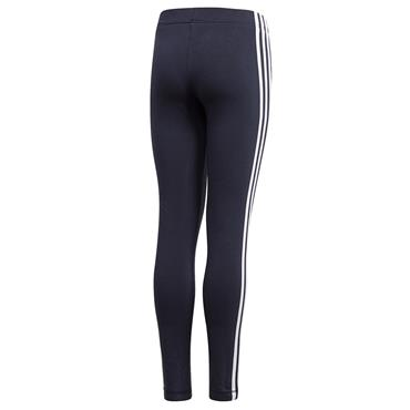 Adidas Girls Essentials 3 Stripes Leggings - Navy/White