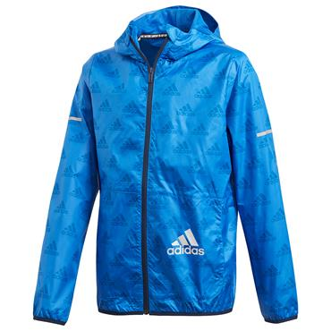 Adidas Boys Wind Jacket - Blue