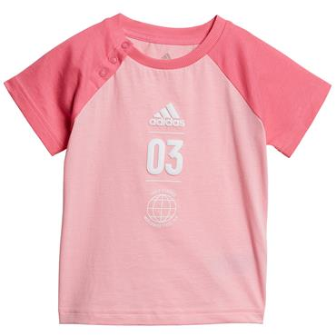Adidas Girls Summer Set - Pink/Grey