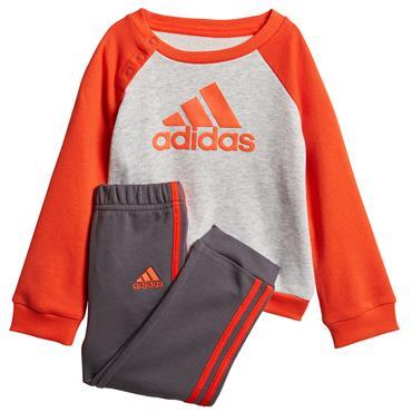 Adidas Boys French Terry Jogger Tracksuit - Grey/Orange