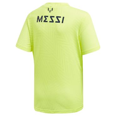ADIDAS BOYS MESSI JERSEY - YELLOW