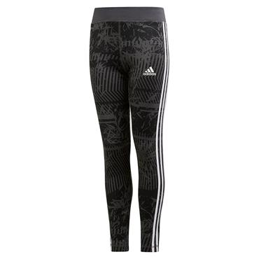 Adidas Kids Training 3 Stripe Leggings - Black/White