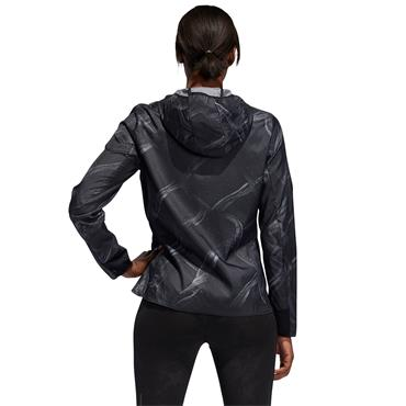 Adidas Womens Own the Run Graphic Jacket - BLACK