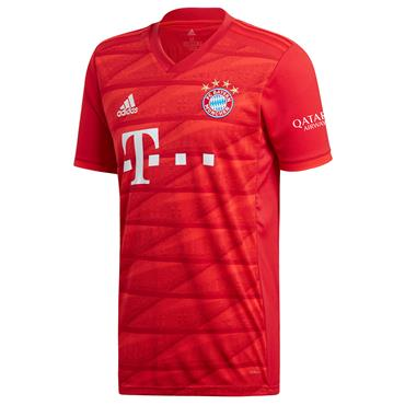 Adidas Adults Bayern Munich Home Jersey 2019/20 - Red