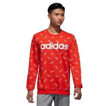 Adidas Mens Graphic Sweatshirt - Red