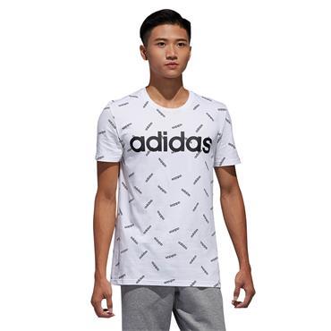 Adidas Mens Graphic T-Shirt - White/Black