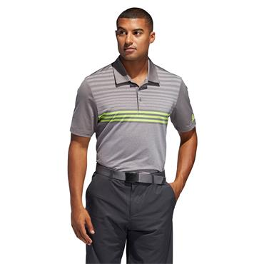 Adidas Mens Ultimate 365 3 Stripe Poloshirt - Grey/Green