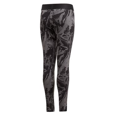 Adidas Girls All Over Print Leggings - BLACK