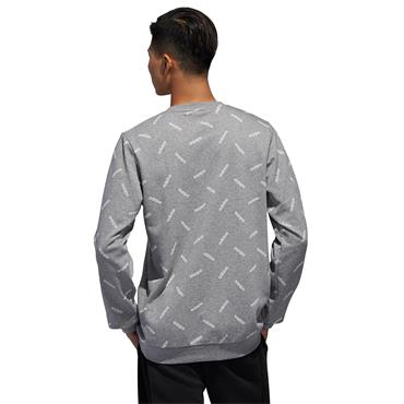 Adidas Mens Graphic Sweatshirt - Grey