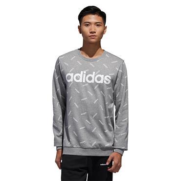 Adidas Mens Graphic Sweatshirt - Grey