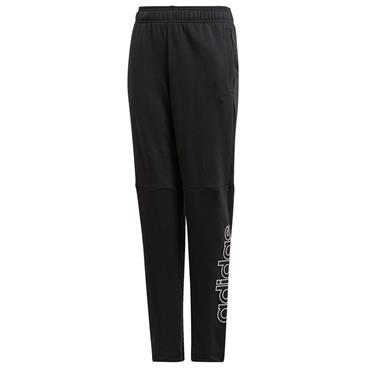 Adidas Boys Logo Tracksuit Bottoms - BLACK