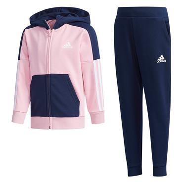 Adidas Girls Fitted Tracksuit - Pink