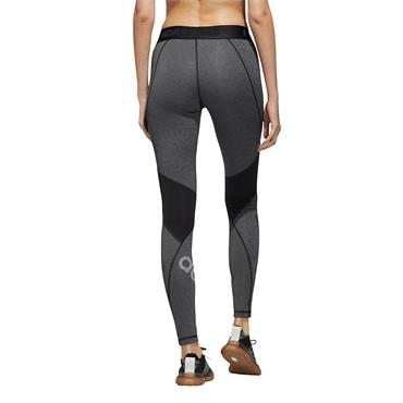 Adidas Womens Alphaskin Badge Of Sport Leggings - Grey