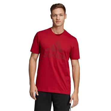 Adidas Mens Must Have Badge of Sports T-Shirt - Red