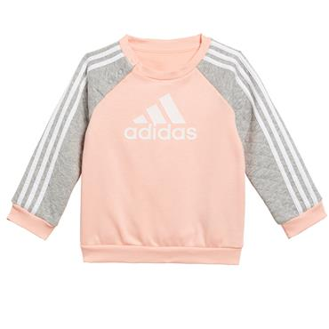 Adidas Girls Warm Jogger Tracksuit - Coral