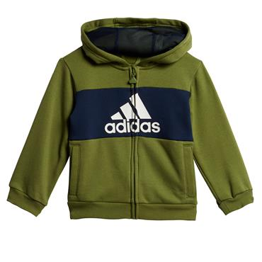 Adidas Infant Logo Hooded Jogger Tracksuit - Green
