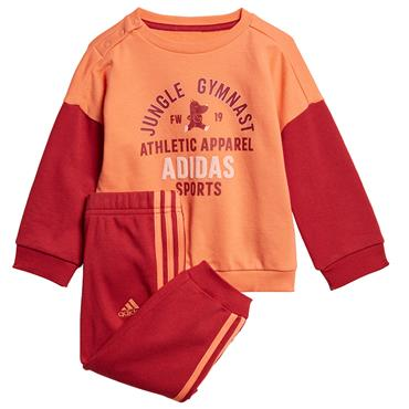 Adidas Kids Graphic Terry Jogger Tracksuit - ORANGE/RED