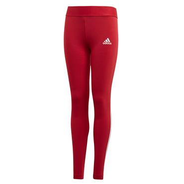 Adidas Girls Must Have 3 Stripe Leggings - Red