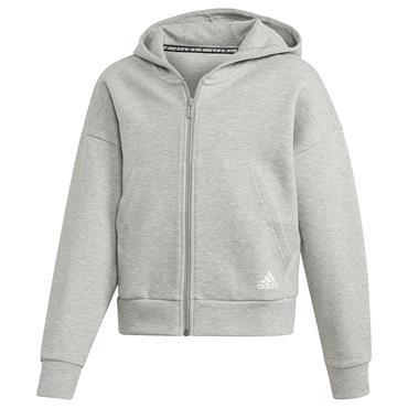 Adidas Girls Must Have 3 Stripes Hoodie - Grey