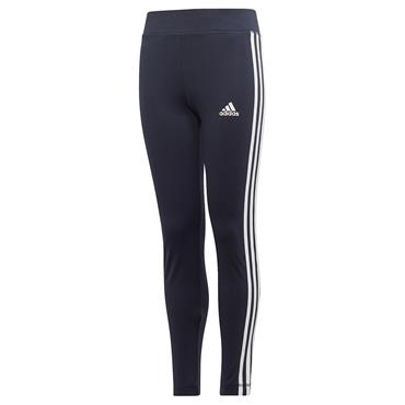 Adidas Girls 3-Stripe Training Leggings - Navy