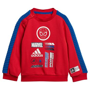 Adidas Kids Marvel Spider-Man Tracksuit - Red