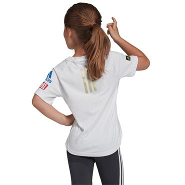 Adidas Girls Captain Marvel T-Shirt - White