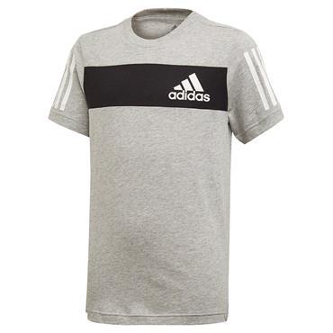 Adidas Boys Sports ID T-Shirt - Grey