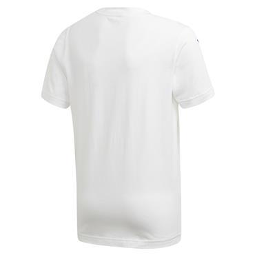 Adidas Boys Sport ID T-Shirt - White/Blue