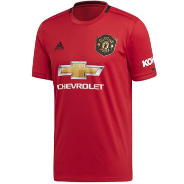 Adidas Adults Manchester United Jersey 2019/20 - Red