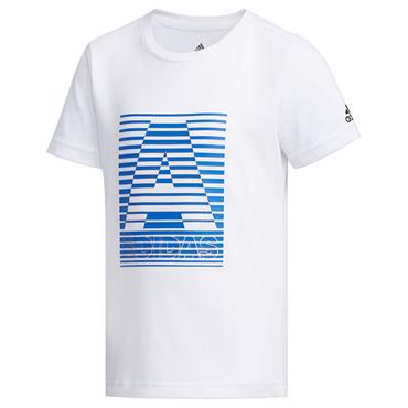 Adidas Boys Training Cotton T-Shirt - White
