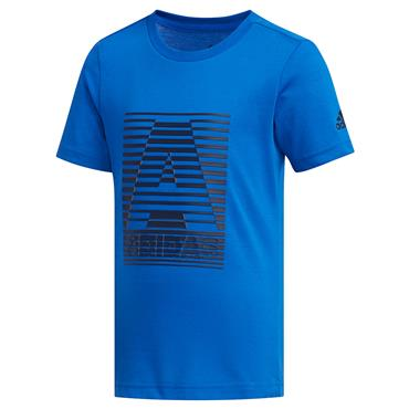 Adidas Boys Cotton T-Shirt - Blue