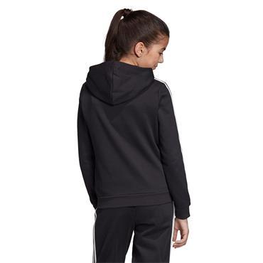 Adidas Girls 3 Stripes Hoodie - BLACK