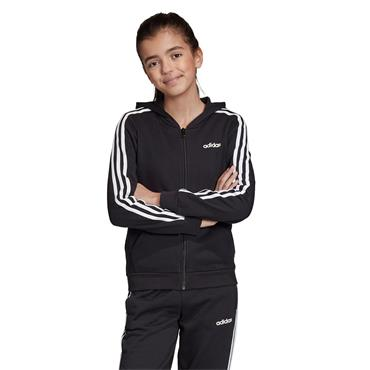 Adidas Girls 3 Stripes Hoodie - BLACK