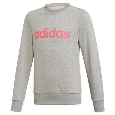 Adidas Girls Linear Sweatshirt - Grey