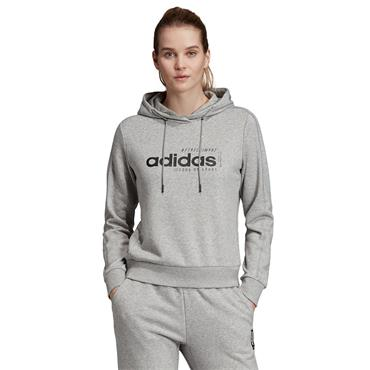 Adidas Womens Brillant Basics Hoodie - Grey