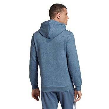 Adidas Mens 3 Stripe Hoodie - Blue